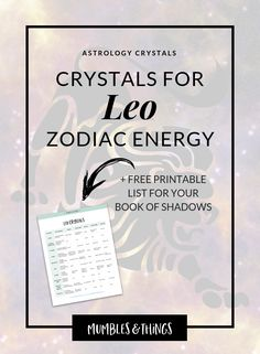 Click through to read the whole post and download your list of Leo crystals for FREE!    The energy of this time of year, when the sun is in Leo, is full of courage and power, and with this comes, drama and exuberance.    #ontheblognow #zodiacsigns #zodiacposts #horoscopeposts #horoscopeoftheday #astrologysigns #astrologypost #astrologylover #leoseason #leocrystals #leoenergy