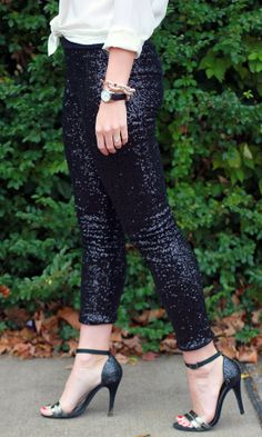 Here & Now: SparkleLouder   @STORETS .com sequin leggings (fleece lined!)