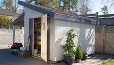 Slik bygger du en enkel redskapsbod selv - viivilla.no Sweet Home, Shed, Outdoor Structures, Garden, Outdoor Decor, Google, Home Decor, Patio, Garten