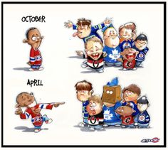What a difference a season of hockey makes. Hockey Mom, Hockey Teams, Ice Hockey, Funny Hockey, Montreal Canadiens, World Of Sports, Picts, Nhl, Seasons