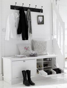 New Ikea Storage Living Room Hallways Ideas Hallway Inspiration, Hallway Ideas, Hallway Storage, Entryway Bench, Shoe Cabinet Entryway, Door Entryway, Home Organization, Closet Organisation, Home And Living
