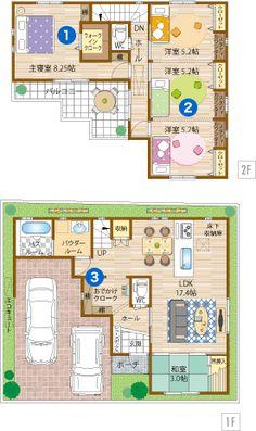 Cプラン Model House Plan, House Plans, Japan House Design, Japanese House, Future House, Floor Plans, Flooring, How To Plan, Modern