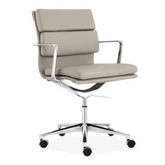 Our Dark Grey Soft Pad office chair is great for the modern office space. Inspired by Eames designs of the Century. Available in a range of colours. Swivel Office Chair, Executive Office Chairs, Eames Design, Contemporary Home Offices, Cool Office Space, Modern Office Design, Sofa Sale, Grey Chair, Design Moderne