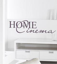 Wandtattoo, Home Cinema, Wandsticker Kino, Kinoaufkleber, Wandaufkleber Wohnzimmer
