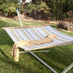 Twin Oaks Magnolia Quilted Sunbrella Fabric Double Hammock - 11263, Durable