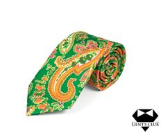 CRAVATA EXTRAVAGANTA VERDE GALBEN FLORAL GENT'S CLUB Costume, Club, Tie, Floral, Model, Accessories, Fashion, Green, Moda
