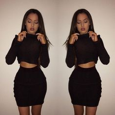 Deal With Knit Black Two Piece Coord - Oh Polly | Shop for Ladies Fashion with Oh Polly Online