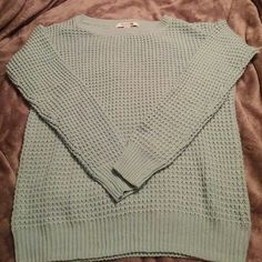 Mint green sweater Mint green knitted sweater Forever 21 Sweaters