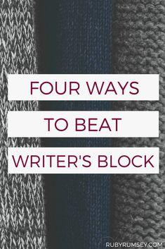 Four Ways to Beat Writer's Block Writing Quotes, Fiction Writing, Writing Advice, Writing Help, Writing A Book, Writing Prompts, Writing Ideas, Writing Strategies, Writing Resources