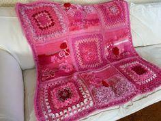 Think Pink Lapghan - Part 1 ~ free patterns