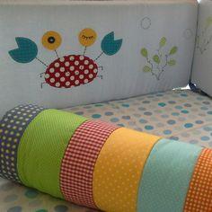 Kit berço patchwork colorido menino mar www.ateliecolorir.com.br