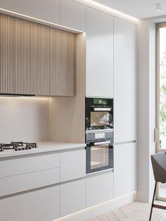 Kitchen Room Design, Kitchen Cabinet Design, Modern Kitchen Design, Interior Design Kitchen, Minimalist Kitchen Cabinets, Minimalistic Kitchen, Condo Interior, Interior Decorating, Contemporary Kitchen Inspiration