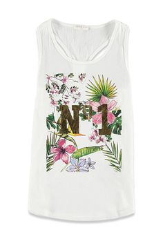 Floral No 1 Graphic Tank (Kids) | Forever 21 girls - 2002247879