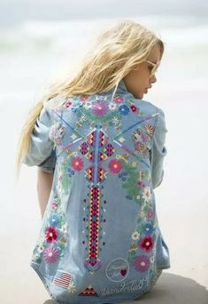 """Embroidered Denim Shirt """"Love Child"""" Ladies Bohemian Button Up Long Sl – Made4Walkin Gypsy Look, Look Boho, Gypsy Style, My Style, Hippie Style, Boho Style, Bohemian Mode, Hippie Chic, Boho Chic"""
