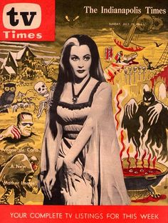 """The Indianapolis Times """"TV Times"""" Lily Munster Cover, July 19, 1964"""