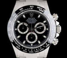 Rolex Unworn Cosmograph Daytona Stainless Steel Black Dial Ceramic Bezel B&P Fine Watches, Sport Watches, Cool Watches, Watches For Men, Oyster Perpetual Cosmograph Daytona, Rolex Oyster Perpetual, Rolex Gmt, Rolex Watches, Rolex Daytona Watch