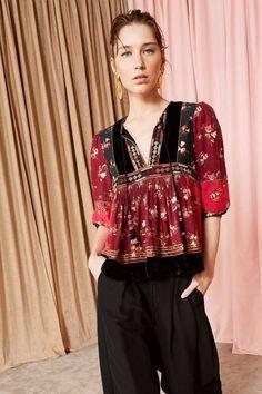 Couture Fashion, Boho Fashion, Fashion Design, Boho Outfits, Fashion Outfits, Denim Jacket With Dress, Frocks For Girls, Beautiful Blouses, Ulla Johnson