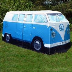 """This cracks me up....UW bus """"camper van"""" tent"""
