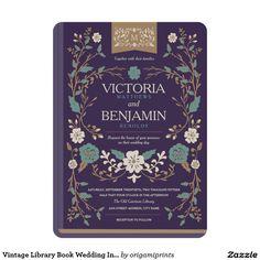 Vintage Library Book Wedding Invite