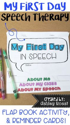Do you need an activity for the first day of a new speech therapy session? This…