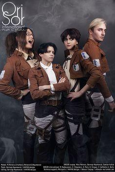The Dream Titan Team - Delusor(Damien) Levi Ackerman, BNaumovski(Borivoje | Ori) Erwin Smith, Mistiqarts Hanji Zoe Cosplay Photo - Cure WorldCosplay