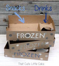 {Frozen Movie Night} Embossed Snack Trays