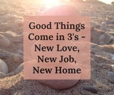Good things come in 3's - new love, new job, new home. A Feng Shui success story with Feng Shui expert Christine Bove