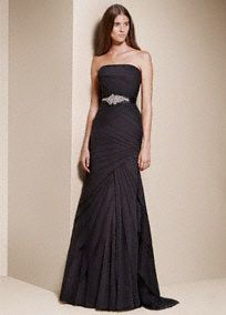 Choose from affordable wedding dresses and gowns by David's Bridal. Find the perfect wedding dresses on sale from David's Bridal! Mermaid Trumpet Wedding Dresses, Black Wedding Dresses, Bridal Dresses, Bridesmaid Dresses, Bridesmaids, Party Dresses, Wedding Gowns, Vera Wang Wedding, White By Vera Wang