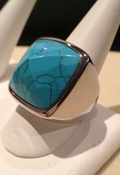 Turquoise Cocktail Ring www.athenagoddessinc.com
