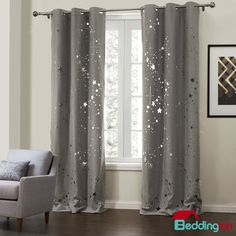 Shiny Star Pattern Curtain For Your Home Decoration Buy It