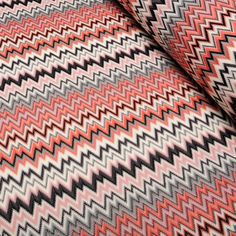 Fabric Store - Trendy Zig - Zag Knit - ML214740 - Coral