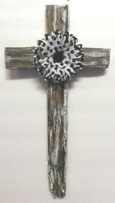 Polka Fot Flower Cross