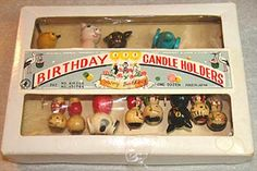 Vintage 1950s Birthday Candle Holders