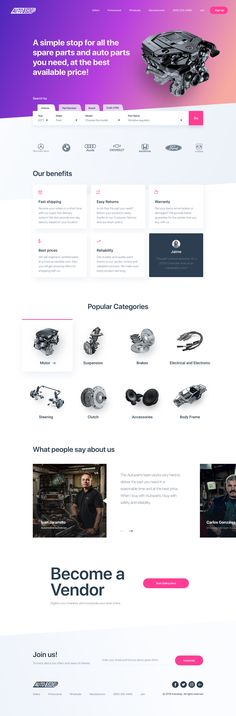 Landing page dribbble