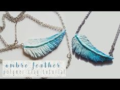 Ombre Feather - Polymer Clay Tutorial ►Laurart◄ - YouTube