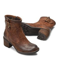 Look what I found on #zulily! Rust Distressed Gunn Leather Bootie - Women #zulilyfinds