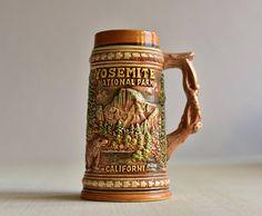 VintageCeramic Beer MugBeer MugYosemite National Park