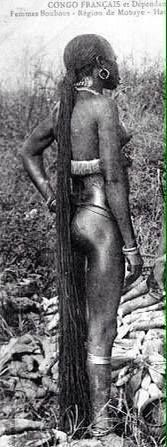 From the Congo African woman with natural long hair