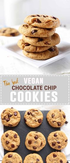 The BEST Vegan Chocolate Chip Cookies | Made in under 10 minutes!