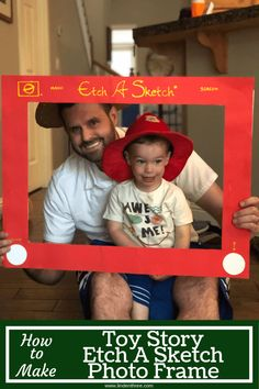 Learn How to Make a Toy Story Etch A Sketch Photo Frame, a perfect photo prop fo. - Toys for years old happy toys 2nd Birthday Party Themes, Toy Story Birthday, Boy Birthday, Third Birthday, Birthday Ideas, Toy Story Pictures, Party Pictures, Toy Story Centerpieces, Birthday Centerpieces