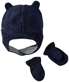 Carter's Baby Boys Winter Hat-glove Sets D08g187, Navy, 12-24M