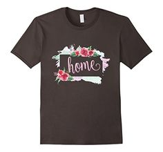 Kansas Is My Home T Shirt Kansas Map Floral Vintage Style