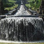 Barocke Kaskadenanlage am Fuße des Herkules Kassel Sommer Wasserspiele