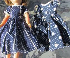 "Swiss Dot Fashion Doll Dresses Flocked LMR, Coty Miss Nancy Ann, Toni 10.5"" #unknownfactory #FlockedPinDotDress #ClothingAccessories"