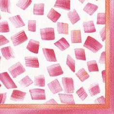 Caspari Sea Breeze Pink Geometric Printed 3-Ply Paper Cocktail Napkins Wholesale 13271C