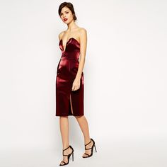 Buy ASOS RED CARPET Super Plunge Pencil Dress at ASOS. With free delivery and return options (Ts&Cs apply), online shopping has never been so easy. Get the latest trends with ASOS now. Asos Party Dresses, Maxi Dresses, Planet Fashion, Going Out Dresses, Dressed To Kill, Models, Latest Dress, Pencil Dress, Shanghai
