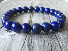Gemstone men bracelet, stretch wanderlust bracelet, beaded surf bracelet , men…
