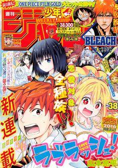 Ranking semanal de la revista Weekly Shonen Jump edición 38 del 2016.