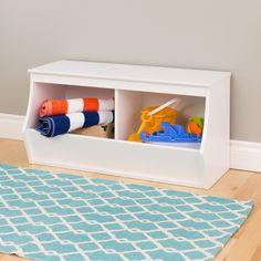 Hot Sale Badger Basket Stackable 3 Bin Open Storage Toy Organizing Cubby Light Gray/dark Baby