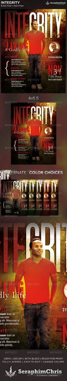 Integrity: Church Flyer Template — Photoshop PSD #bulletin #youth • Available here → https://graphicriver.net/item/integrity-church-flyer-template/5899309?ref=pxcr